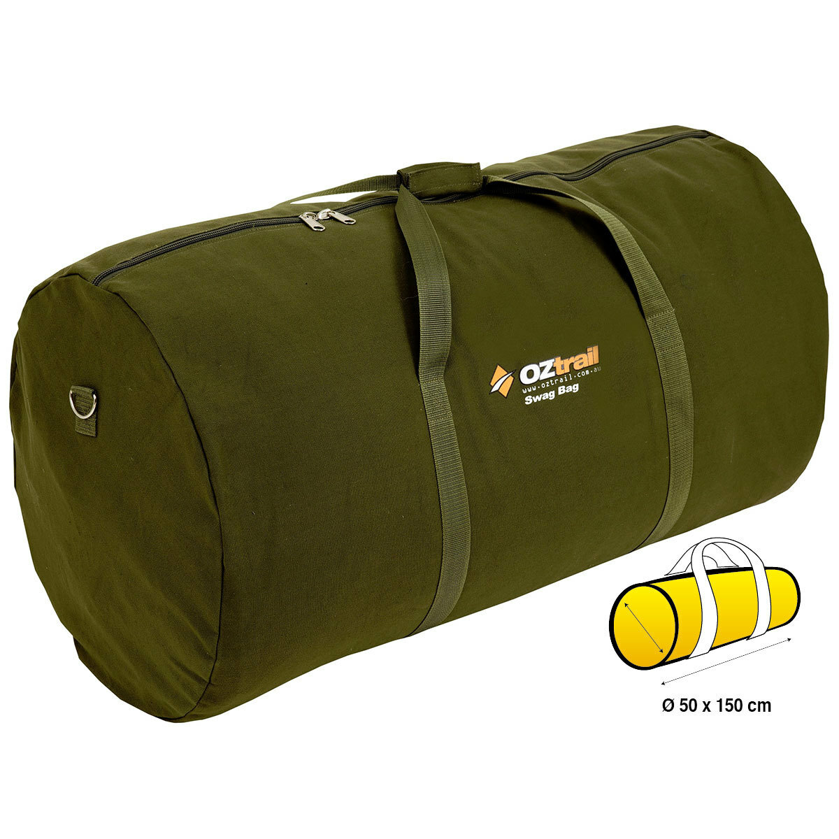 5899ed3fe39b OZtrail Canvas Double Swag Bag