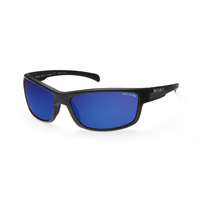 MAKO Sunglasses Shadow Matte Black Grey Tort/Blue Mirror Glass Polarised Lenses image