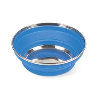 Pop Up Silicone Bowl 22cm Blue image
