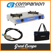 Companion Double Burner Wok Cooker Stove and Bag image