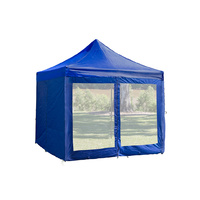 Blue Mesh Wall with Door suit 3x3 Gazebo - Outdoor Connection image
