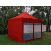Red Mesh Wall with Door suit 3x3 Gazebo - Outdoor Connection image