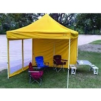 Yellow Mesh Wall with Door suit 3x3 Gazebo - Outdoor Connection image