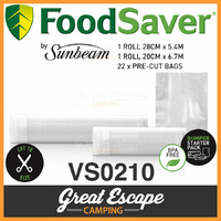 Sunbeam VS0210 FoodSaver Food Vacuum Sealer Bags  image